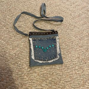 Vintage jeans pocket cross body purse
